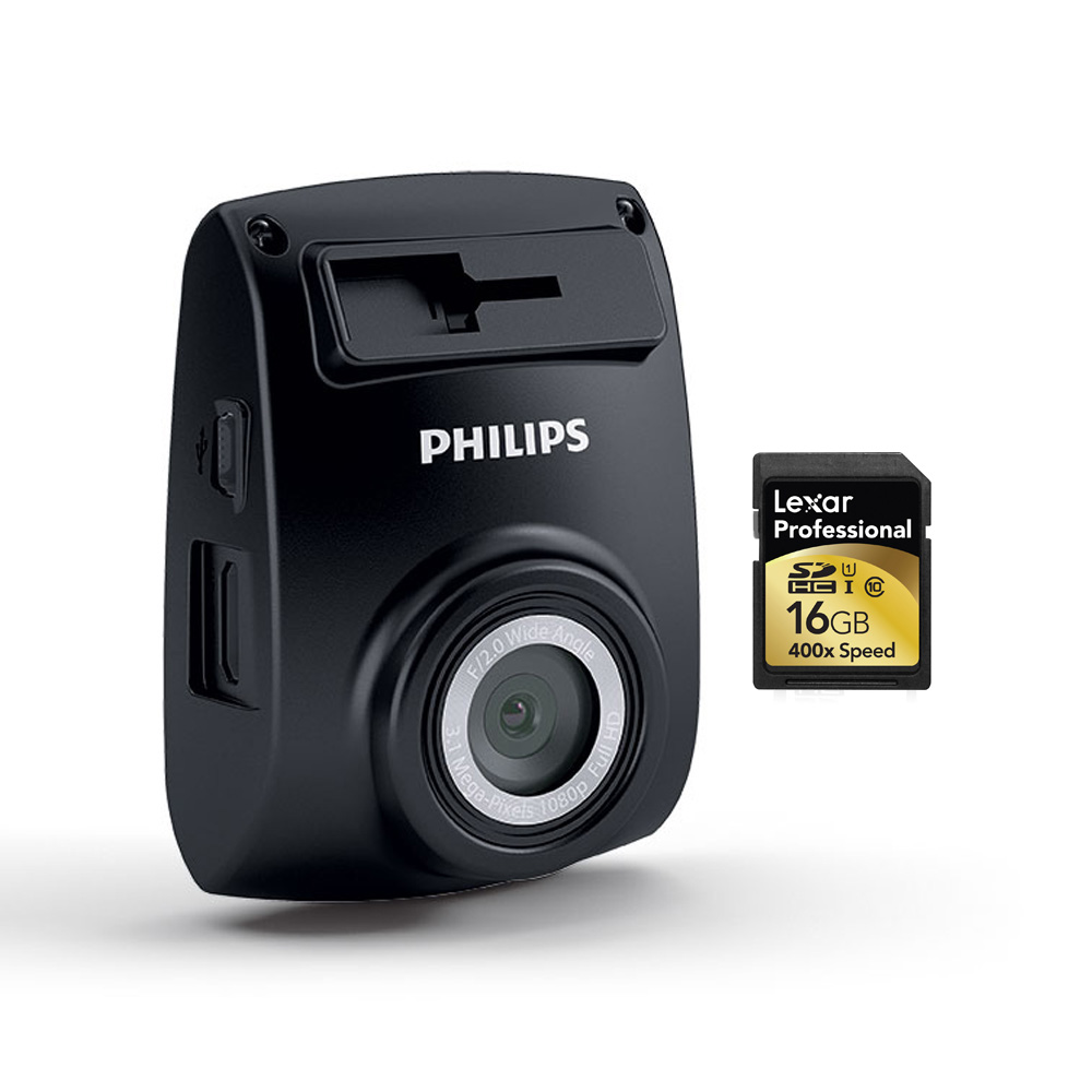 PHILIPS ADR 610 Vehicle Video Camera + 16GB SD Card