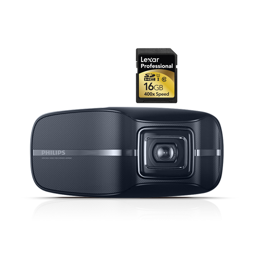 PHILIPS ADR 810 Vehicle Video Camera + 16GB SD Card